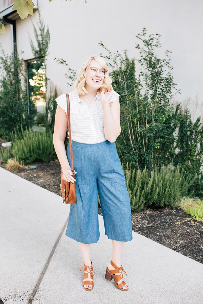 austin fashion blog writes like a girl modcloth chambray culottes14