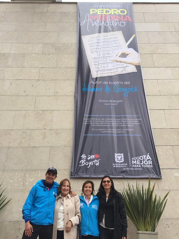 Recorrido en bici a la exposición Pedro Medina Avendaño en el Archivo de Bogotá
