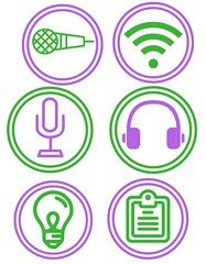 highered podcast project icons