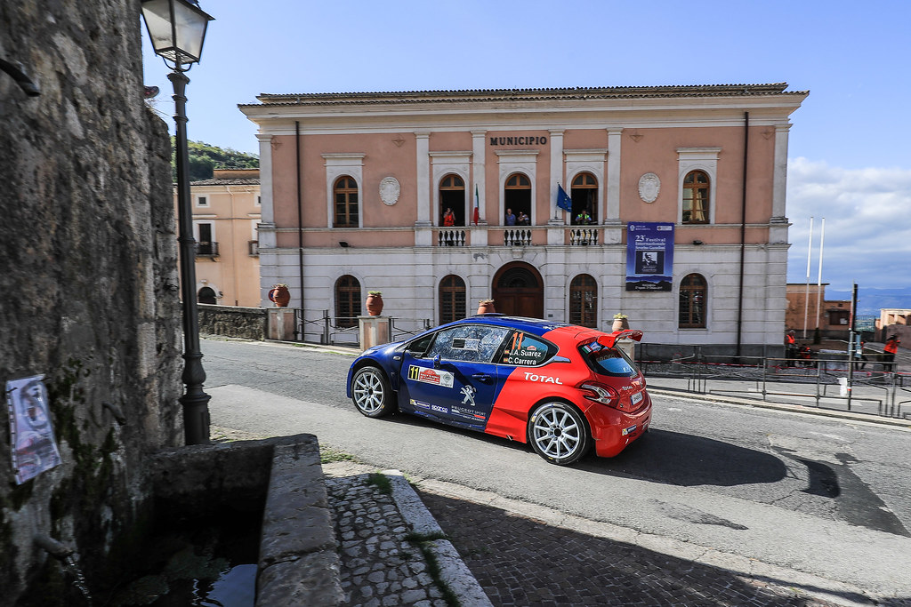 11 SUAREZ Jose Antonio (ESP) CARRERA ESTEVEZ Candido (ESP) Peugeot 208 T 16 action during the 2017 European Rally Championship ERC Rally di Roma Capitale,  from september 15 to 17 , at Fiuggi, Italia - Photo Jorge Cunha / DPPI