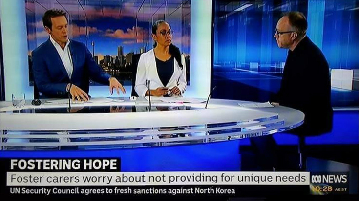 Dr Justin Rogers talks about Fostering Hope research project on Australian TV.