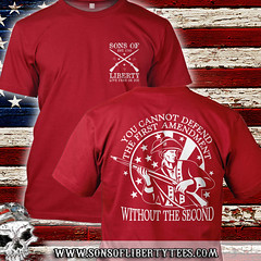 You can not defend the first amendment. Without the Second.  T-Shirt