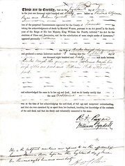 Acknowledgement of Deeds by Commissioners of the Common Pleas of Catherine Meigh wife of Charles Meigh the Younger, Liverpool, Lancashire and Staffordshire. 1860. p2