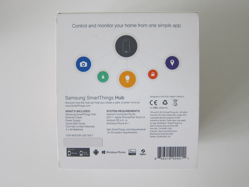 SmartThings V2 Hub (UK) - Box Back