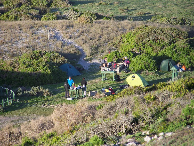 Plankiesbaai campsite for hikers