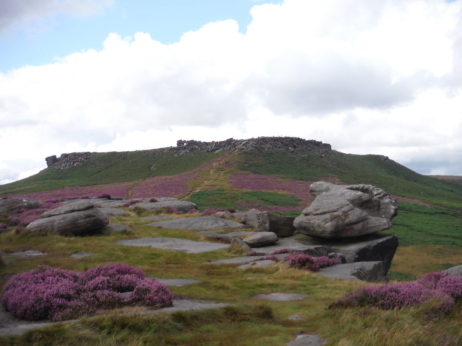 Higger Tor from Carl Wark SWC Walk 266 - Sheffield to Bamford (via Burbage Rocks and Stanage Edge) or to Moscar Lodge [via Carl Wark and Higger Tor Alternative]