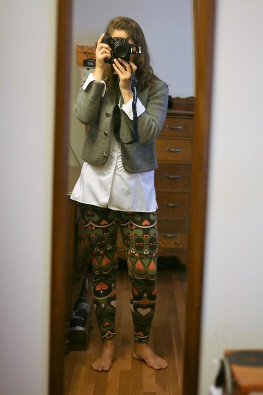 Self-drafted leggings