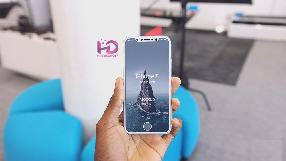 Bộ 4 mẫu Mockup iPhone 8
