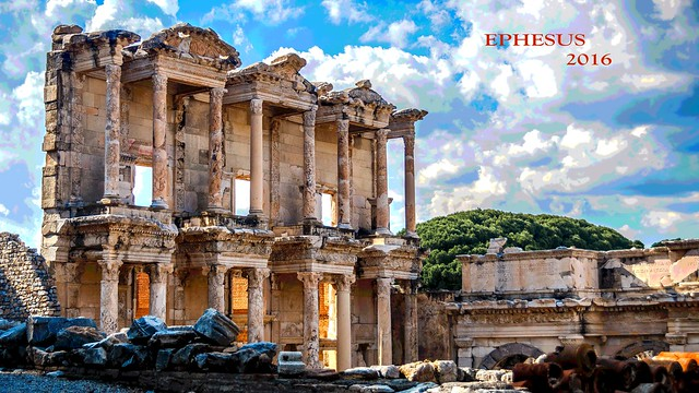 EPHESUS Ancient City.  Unesco World Heritage List.  Celsus Library.