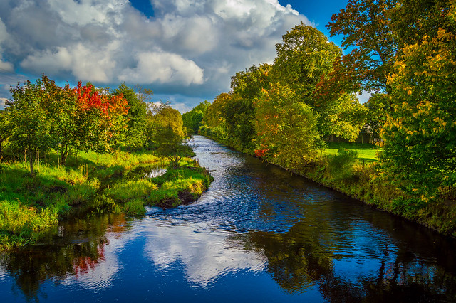 River Gryffe in Quarriers Village, inverclyde, Scotland