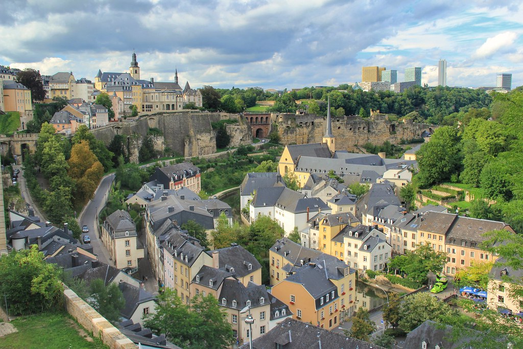 Luxembourg City viewed from Place Esprit
