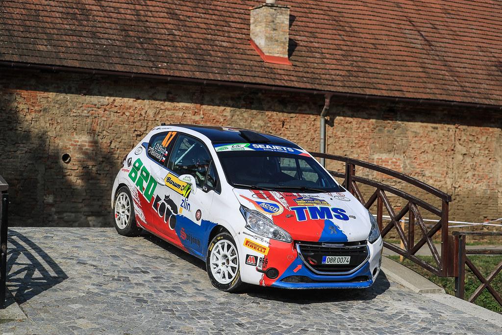 47 BROZ Dominik (CZE) TESINSKY Petr (CZE) Peugeot 208 R2 action during the 2017 European Rally Championship ERC Barum rally,  from August 25 to 27, at Zlin, Czech Republic - Photo Jorge Cunha / DPPI