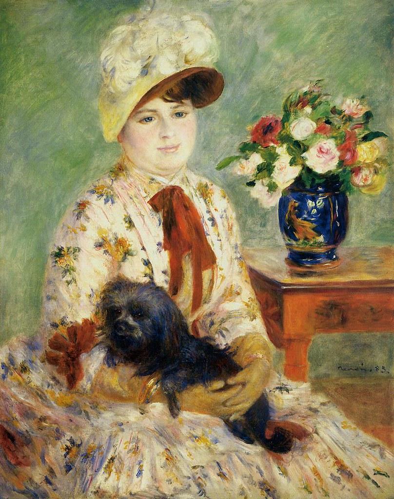 Mlle Charlotte Berthier by Pierre Auguste Renoir, 1883