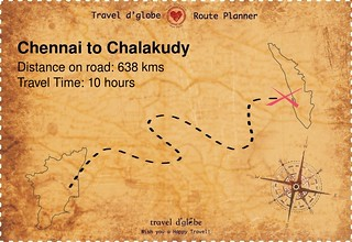 Map from Chennai to Chalakudy