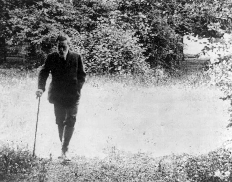 Ex-Kaiser Wilhelm II of Germany walking alone on his estate, with cane in hand, 1922. Credit Library of Congress