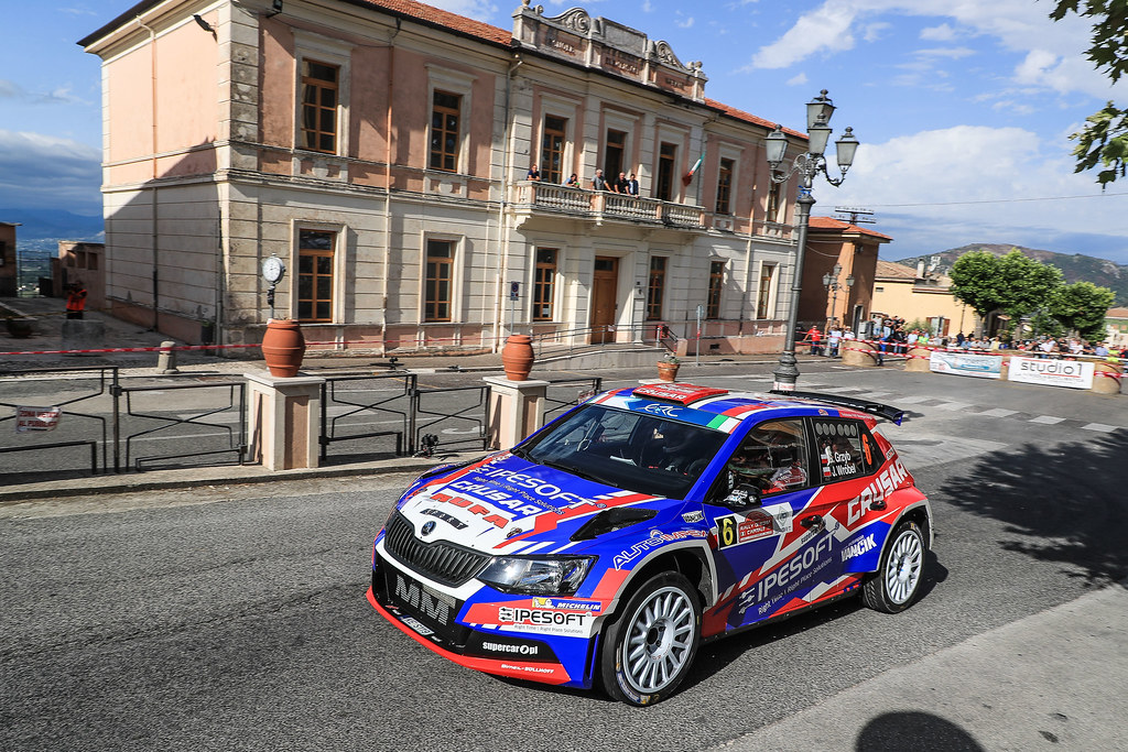 06 GRZYB Grzegorz (POL) BROWINSKI Bogusław (POL) Skoda Fabia R5 action during the 2017 European Rally Championship ERC Rally di Roma Capitale,  from september 15 to 17 , at Fiuggi, Italia - Photo Jorge Cunha / DPPI