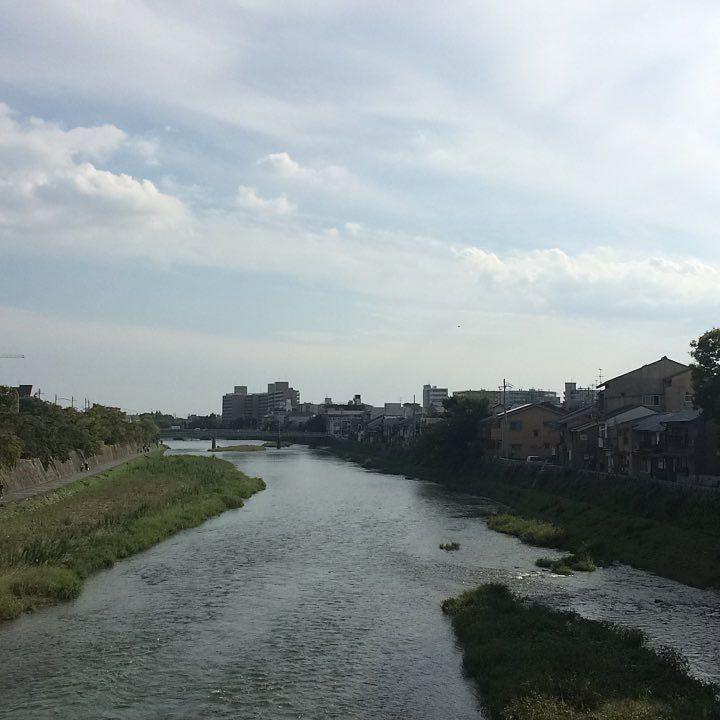 良い天気。晴れ。 #今日の鴨川 #kyokamo #sky #イマソラ #第3部完 #最終回 #またそのうち