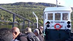 El ferry que lleva a la isla de Utøya