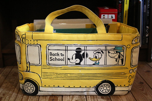School bus totebag