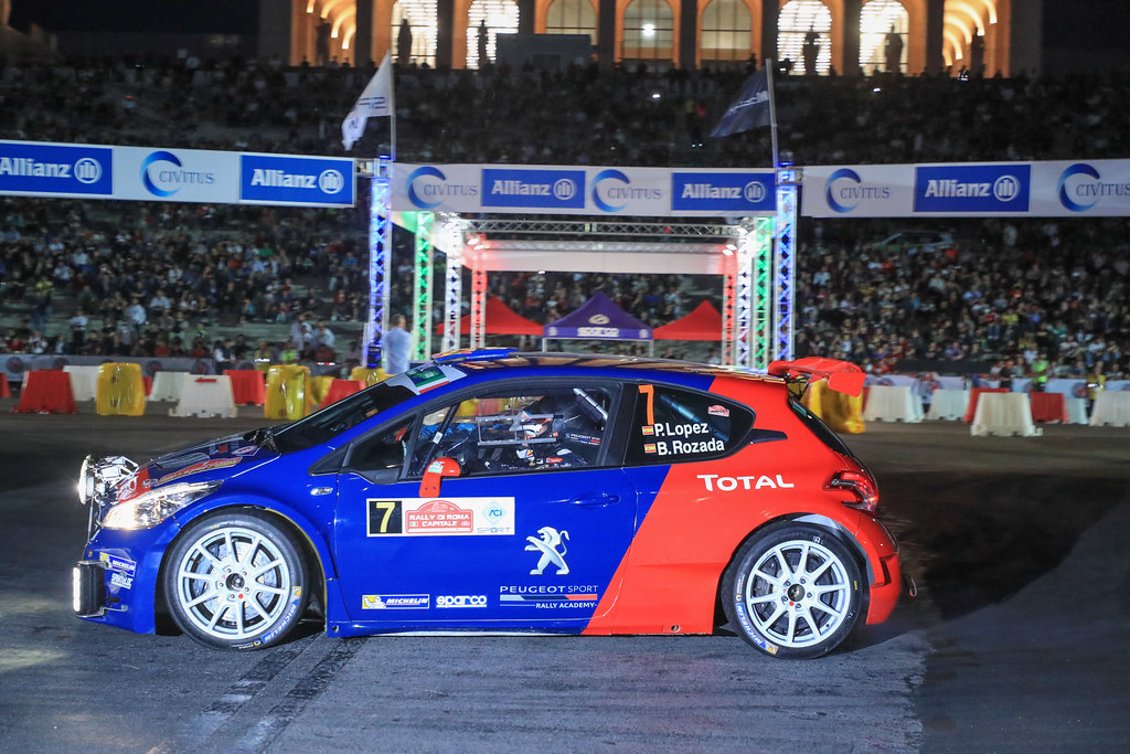 07 LOPEZ Jose Maria (ESP) ROZADA Borja (ESP) Peugeot 208 T 16 action during the 2017 European Rally Championship ERC Rally di Roma Capitale,  from september 15 to 17 , at Fiuggi, Italia - Photo Jorge Cunha / DPPI