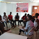 Group session with young men
