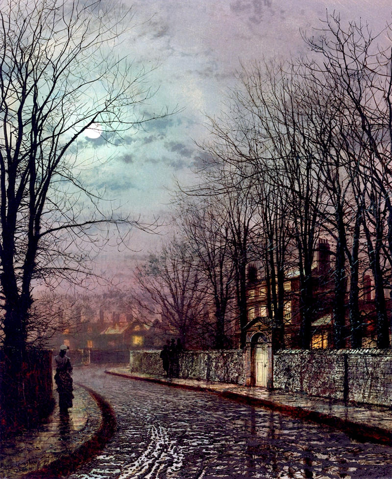 The Tryst by John Atkinson Grimshaw, 1886