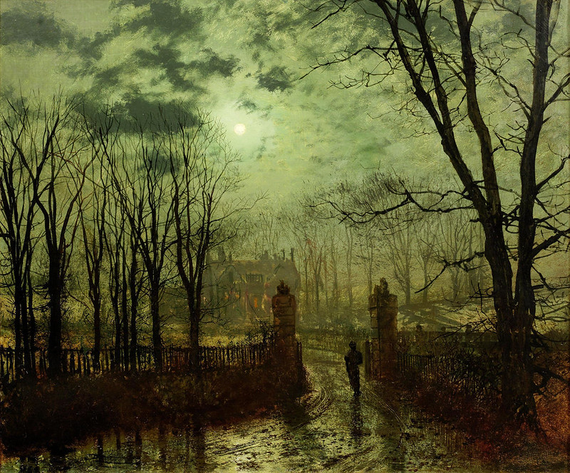 At the Park Gate by John Atkinson Grimshaw, 1878