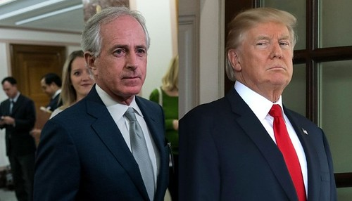 Trump trashes outgoing Republican senator in public falling out