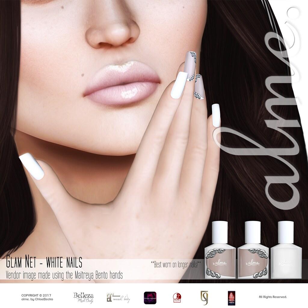 alme. Glam Net - White @ Tres Chic - TeleportHub.com Live!