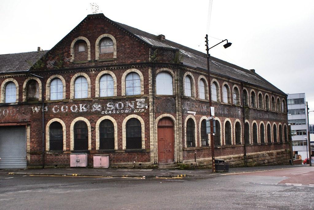 Ancienne usine dans le quartier de Finnieston à Glasgow.