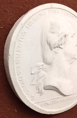 Washington Before Boston medal obverse plaster edge