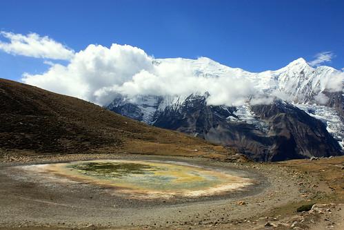 J12 : 2 octobre 2017 : 6ème jour du trek : de Braga (3440 m) à Manang (3540 m) avec A/R au Ice Lake (4600 m)