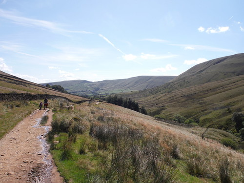 Backview towards Lord's Seat and Mam Tor