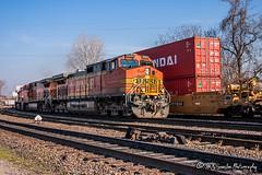 BNSF 5371 | GE C44-9W | BNSF Thayer South Subdivision