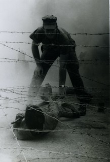Trainee Moves Through Barbed Wire, 28 July 1968