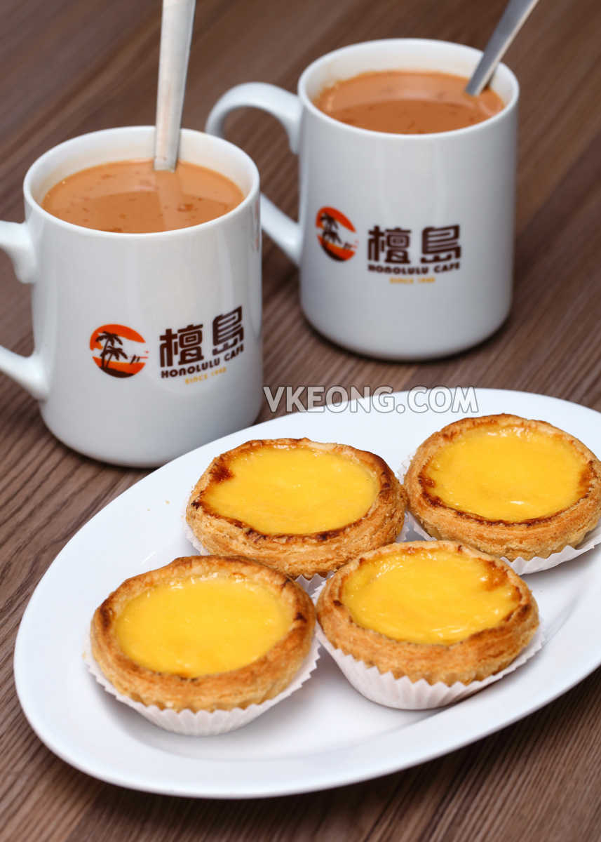 Honolulu-Cafe-Sunway-Pyramid-Egg-Tart-Milk-Tea