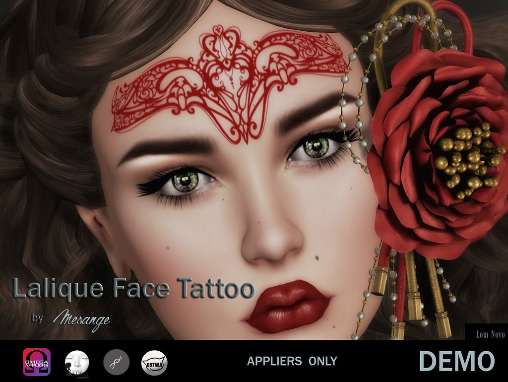 MESANGE - Lalique Face Tattoo for WLRP - TeleportHub.com Live!