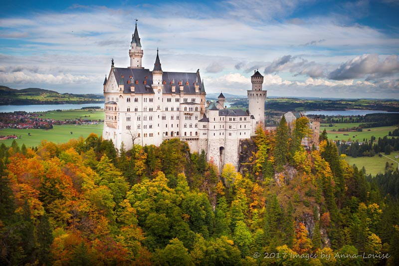 Autumn tones at Schloss Neuschwanstein