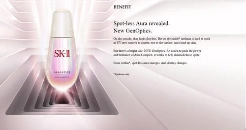 Bí quyết trắng da với SK-II Gentoptics Aura Essence