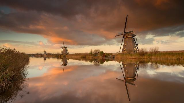 Autumn in Kinderdijk