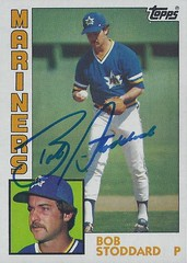 1984 Topps - Bob Stoddard #439 (Pitcher) - Autographed Baseball Card (Seattle Mariners)