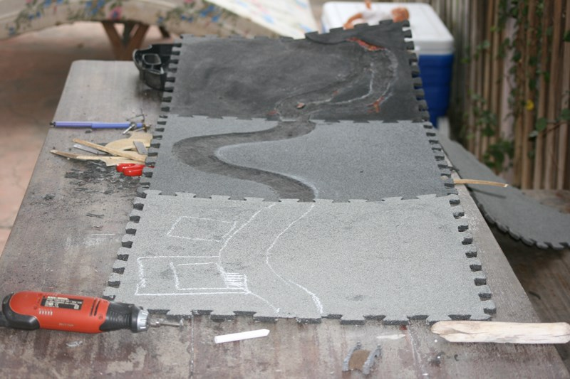 Plateau de jeu à partir de tapis de sol puzzle 37155925444_a6d525f4e7_o