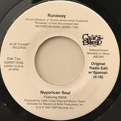 NUYORICN SOUL:RUNAWAY(LABEL SIDE-B)