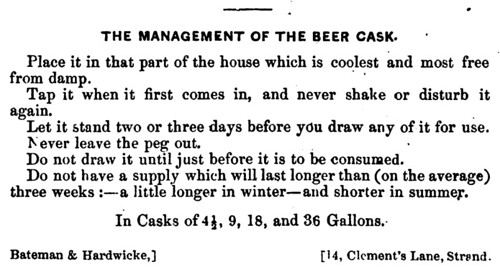 The Management of the Beer Cask (1850)