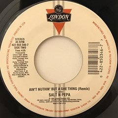 SALT N PEPA:AIN'T NUTHIN' BUT A SHE THING(LABEL SIDE-B)