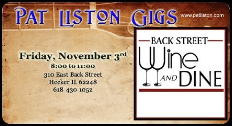 Pat Liston 11-3-17