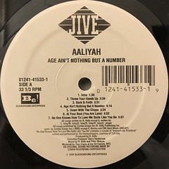 AALIYAH:AGE AIN'T NOTHING BUT A NUMBER(LABEL SIDE-A)