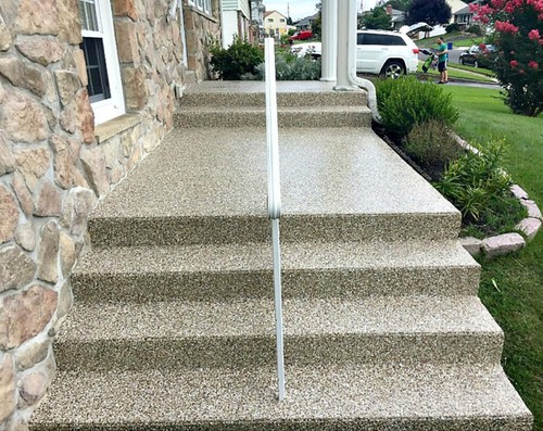Beautiful Decorative Concrete Steps- Raleigh, NC