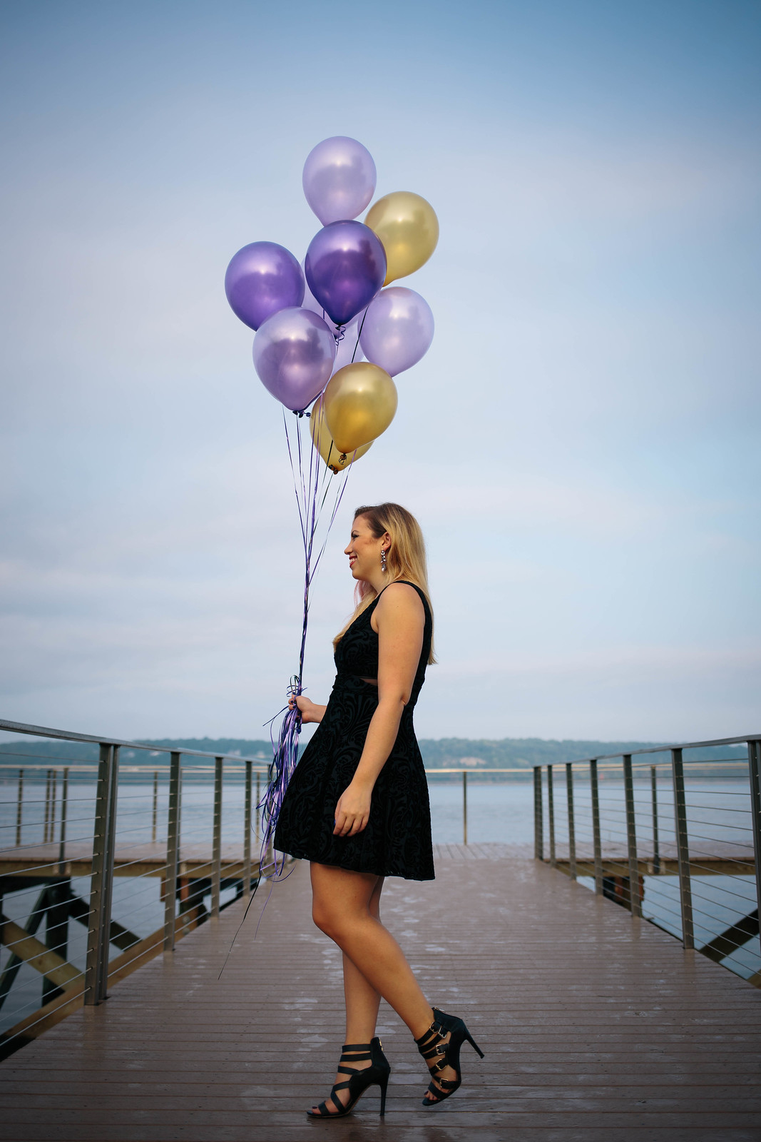 Jackie Giardina 30th Birthday Photoshoot Living After Midnite Balloons Twirling Dress