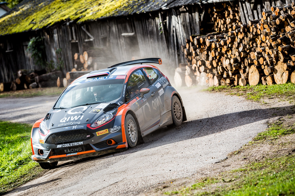 03 Lukyanuk Alexey and Arnautov Alexey, Russian Performance Motorsport, Ford Fiesta R5 action during the 2017 European Rally Championship ERC Liepaja rally,  from october 6 to 8, at Liepaja, Lettonie - Photo Thomas Fenetre / DPPI
